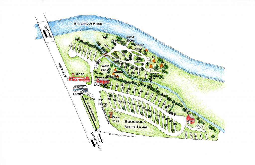 Anglers Roost Campground Map